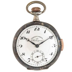Sterling Silver Enamel Fine Quarter Hour Repeater Pocket Watch, circa 1910