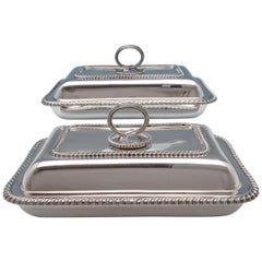 Sterling Silver Entree Dishes by Goldsmiths & Silversmiths Co. 1933