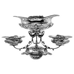 Sterling Silver Epergne Centrepiece England 1922