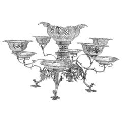 George III Sterling Silver Epergne or Centrepiece by Thomas Pitts in 1763