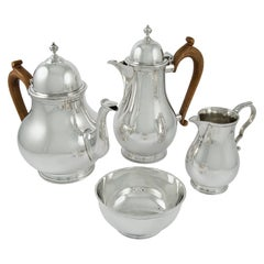 Sterling Silver Four-Piece Silver Tea Service