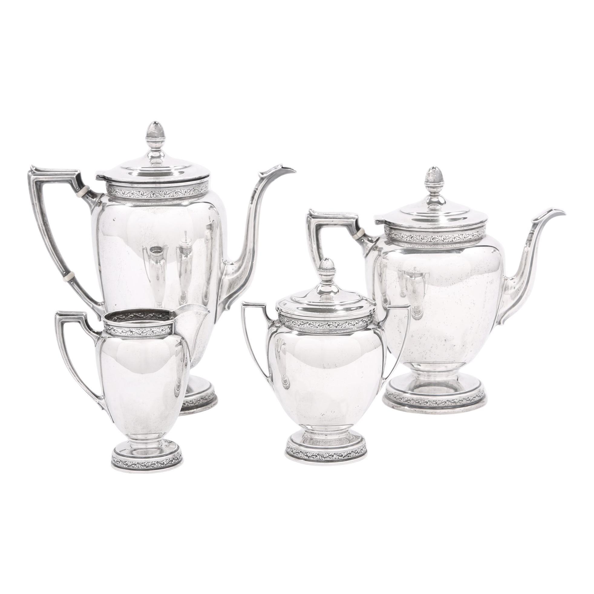 Sterling Silver Four Piece Tea / Coffee Service