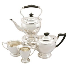 Sterling Silver Four Piece Tea Service, Antique George V '1911'