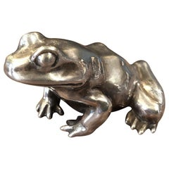 Sterling Silver Frog / Toad Sculpture