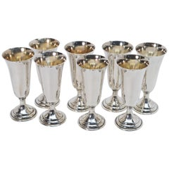 Sterling Silver Georg Jensen Cordial Cup Set