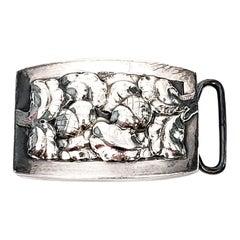 Sterling Silver Georg Jensen Denmark Acorn Belt Buckle #67