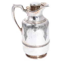 Sterling Silver Glass Insulated Thermal Pitcher Jug