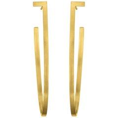Sterling Silver Gold-Plated Big Hoop Earrings