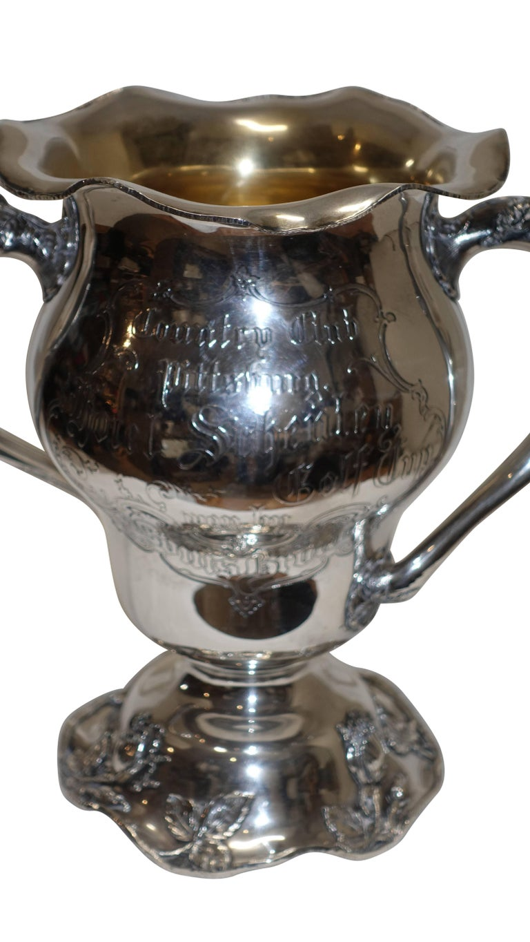 American Sterling Silver Golf Trophy Loving Cup, Pittsburgh, Hotel Country Club For Sale