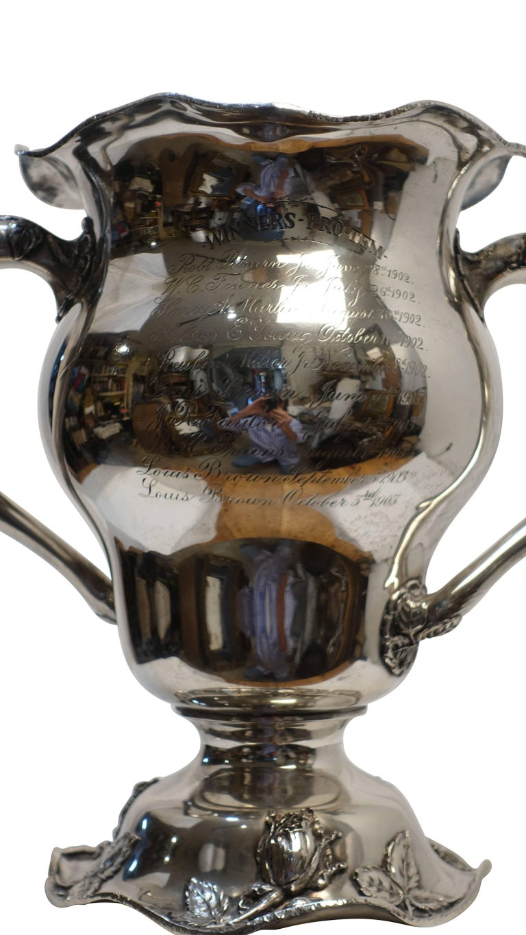 Sterling Silver Golf Trophy Loving Cup, Pittsburgh, Hotel Country Club For Sale 4