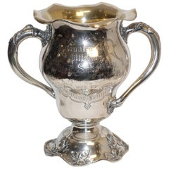 Sterling Silver Golf Trophy Loving Cup, Pittsburgh, Hotel Country Club