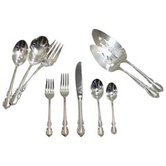 Sterling Silver Grand Baroque Flatware Set 1941 by R. Wallace & Sons Mfg. Co.