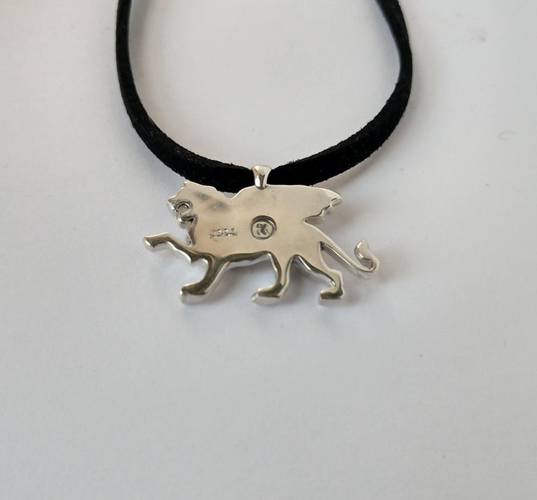 Sterling Silver Griffin Pendant Necklace For Sale 1