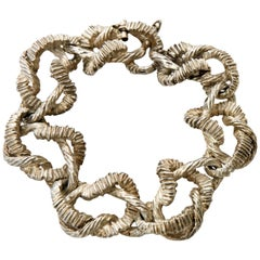 Sterling Silver Hallmarked Link Bracelet Vintage Italian