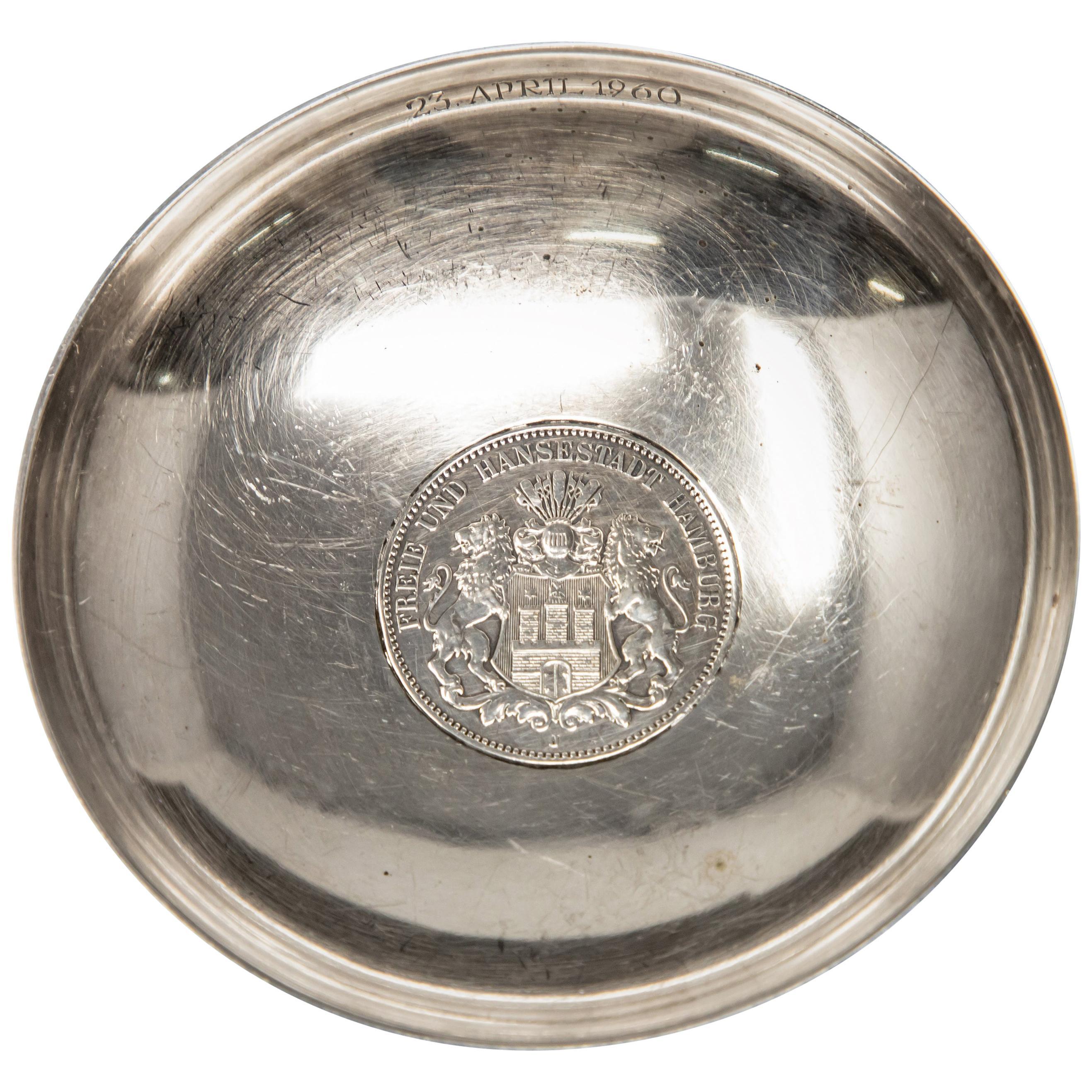 Sterling Silver Hamburg Coin Dish