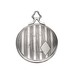 Sterling Silver Hand Pocket Mirror with Monogram