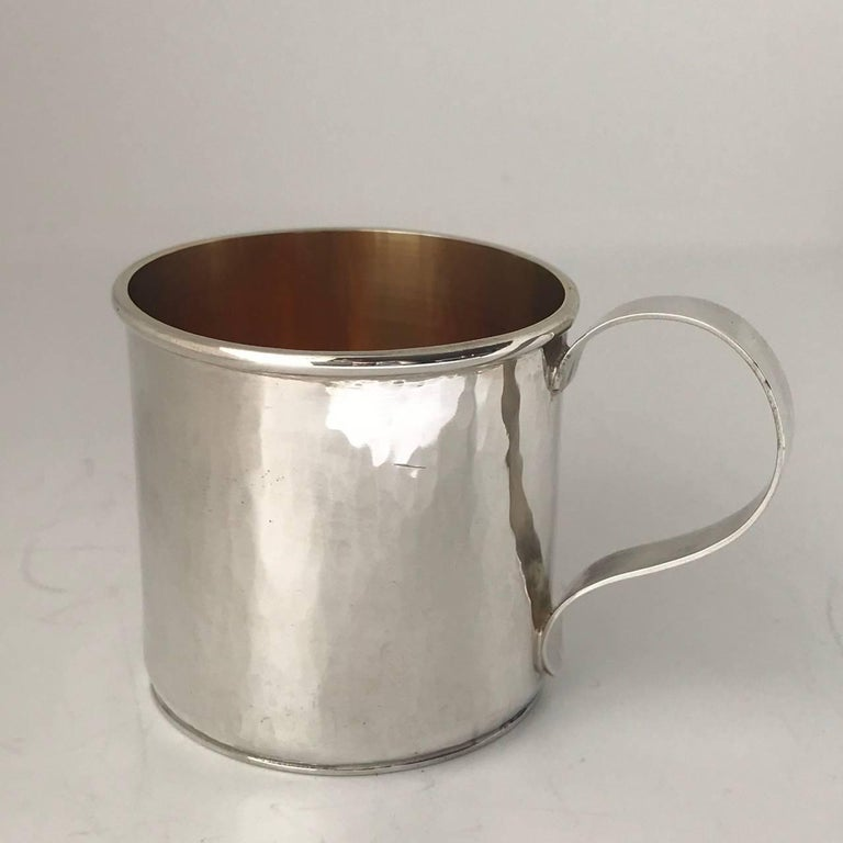 American Sterling Silver Hand-Wrought Baby/Youth Cup For Sale