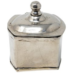 Sterling Silver Handcrafted Tea Caddy