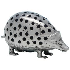 Sterling Silver Hedgehog Pincushion