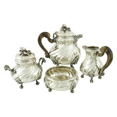 Sterling Silver Italian Four-Piece Tea Set