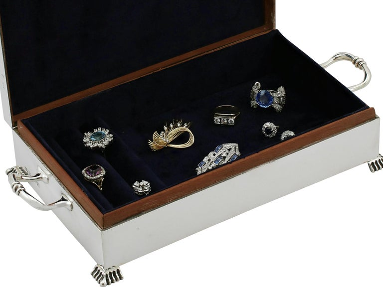 Sterling Silver Jewelry Box, 1957 For Sale 1