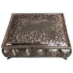 Sterling Silver Jewellery Box, Completely Handmade, Made in Italy