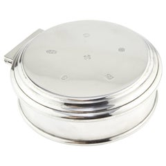 Sterling Silver Jewellery Box with Velvet Interior by Asprey & Garrard