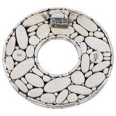 Sterling Silver John Hardy Circular Pendant