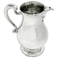 Sterling Silver Jug / Beer Jug / Pitcher 1962 Georgian Style Water Serving