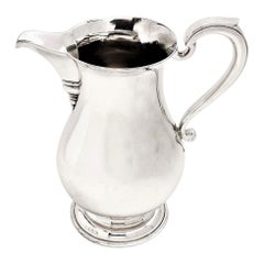 Sterling Silver Jug / Pitcher / Beer Jug / Water Jug 1969 Georgian Style Serving