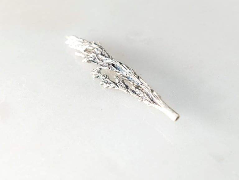 This Juniper contemporary brooch is made of sterling silver. It is a new it-piece for those, who are in love with something special and unique. It was featured in Vogue UA and mentioned in the editor's word.  This contemporary brooch can be worn