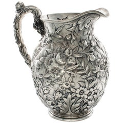 Sterling Silver Kirk and Sons Repousse Pitcher
