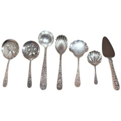 Sterling Silver Kirk Repose Serving Pieces / 7 Pieces