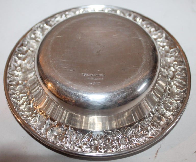 American Sterling Silver Kirk & Sons Bon Bon Bowl For Sale