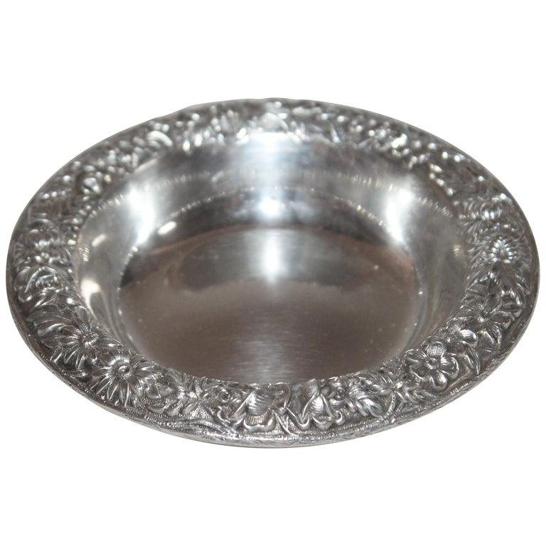 Sterling Silver Kirk & Sons Bon Bon Bowl For Sale
