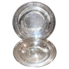 Sterling Silver Large Serving Bowls / 2