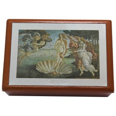 Sterling Silver, Leather, Jewelry Box, Botticelli, Handcrafted, Italy