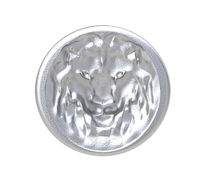 For Sale: undefined Sterling Silver Leo Lion Signet Wax Seal Ring 2