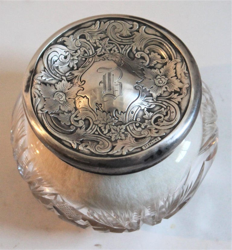 Other Sterling Silver Lided Powder Jars Collection of Five For Sale