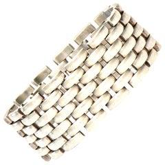Sterling Silver Link Cuff Bracelet Vintage
