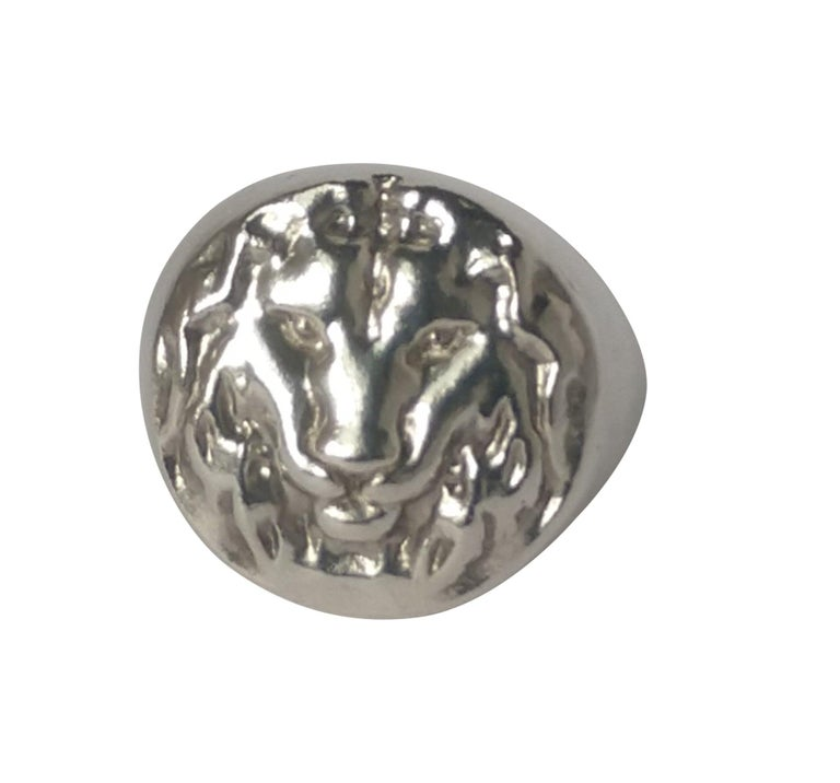 Sterling Lion of Judah Signet Ring   The lion head signet ring. King of the Jungle. Fearless, ferocious, a fighter to the end. Have no fear, you can tame this one to fit on your finger. Who wouldn't want to go to Africa and see a lion live on a
