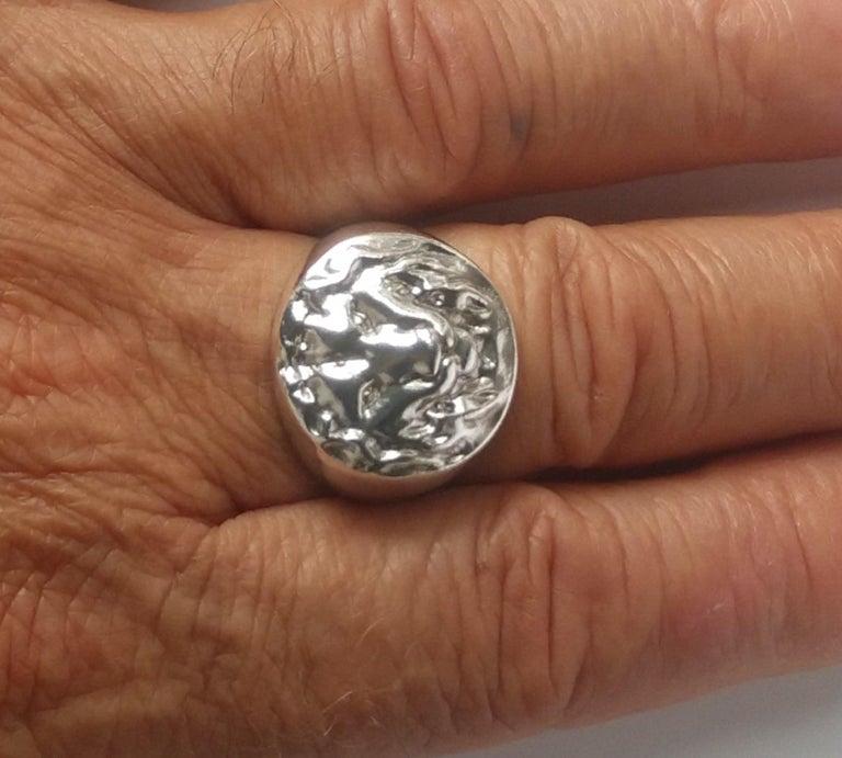 Sterling Silver Lion of Judah Signet Ring For Sale 1