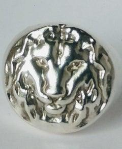 Sterling Silver Lion of Judah Signet Ring
