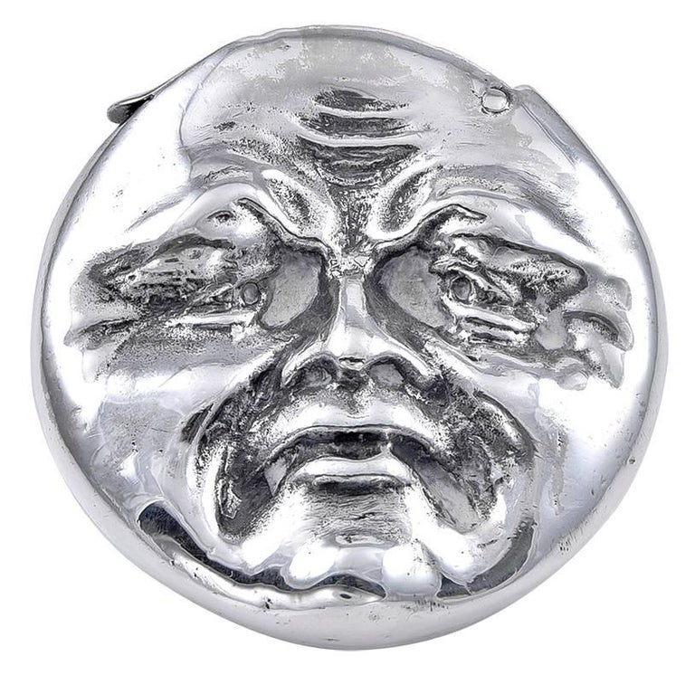 Sterling Silver Man in the Moon Vesta