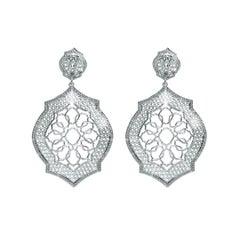 Sterling Silver Mauresque Drop Earrings Natalie Barney