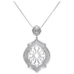 Sterling Silver Mauresque Pendant and Chain Necklace Natalie Barney
