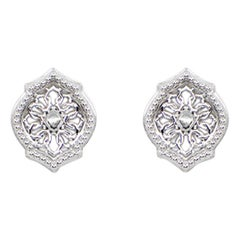 Sterling Silver Mauresque Stud Earrings Natalie Barney