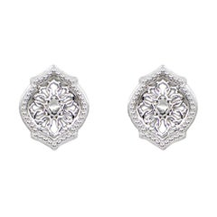 Sterling Silver Mauresque Stud Earrings Natalie Barney