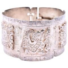 Sterling Silver Mayan Peru Bracelet