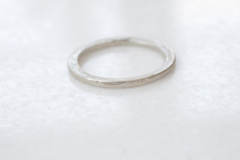 Simplicity Medium Disk contemporary unisex design-  For sale here is Band Ring in sterling silver. Can be worn as a bridal or wedding ring or a stacking fashion ring. Great as a woman's or a man's ring.  Process: This striking ring is first hand